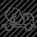 construction buggy, concrete mixer, construction vehicle, concrete buggy, concrete vehicle icon
