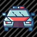 police, car, transportation, vehicle, automobile