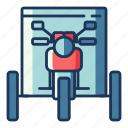 tricycle, motorbike, motorcycle, transportation, vehicle