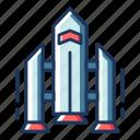 rocket, space, satellite, vehicle, transportation