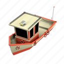 boat, ship, vessel, transportation, maritime, nautical, 3 dimension