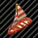 sail boat, boat, ship, nautical, vessel, transportation, 3 dimension