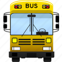 bus, public, school, transportation icon