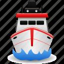 boat, cargo ship, fishing, navy, sea, ship, transportation icon