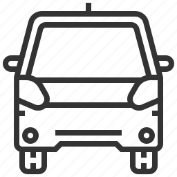 automobile, car, delivery, electric, traffic, transportation, vehicle icon