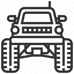 automobile, car, delivery, monster, traffic, transportation, truck icon