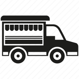 car, food truck, mobile shop, transport, truck, vehicle icon