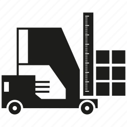 box, cargo, forklift, loading, transport icon