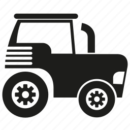 agricultural tractor, car, equipment, machinery, tractor, truck icon
