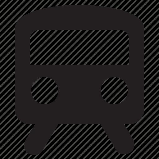 arrow, direction, road, traffic, train icon