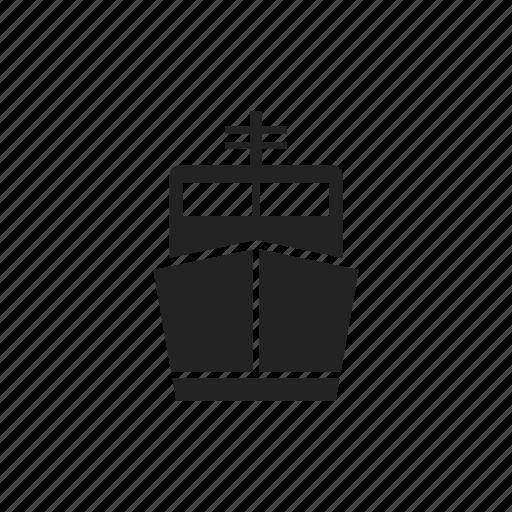 cargo, public, ship, transportation icon
