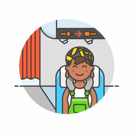 air, cabin, fly, passenger, transit, transportation, travel, woman icon