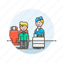 air, drink, flightcrew, man, passenger, service, transit, transportation icon