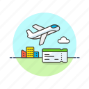 air, boarding, fly, pass, plane, ticket, transit, transportation icon
