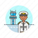 air, captain, fly, man, plane, tower, transit, transportation icon