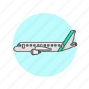 air, airplane, transportation icon
