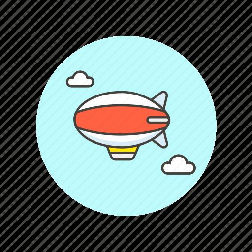 air, balloon, fly, hot, sky, transportation, travel icon