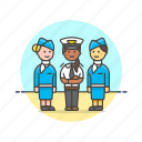 air, captain, flightcrew, hostess, plane, transportation, travel, woman icon