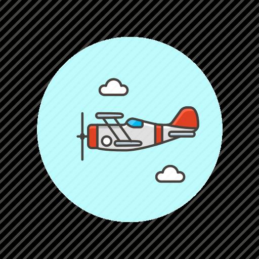 air, plane, propeller, transportation, travel, vehicle icon
