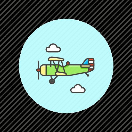 air, flight, plane, propeller, transportation, vehicle icon