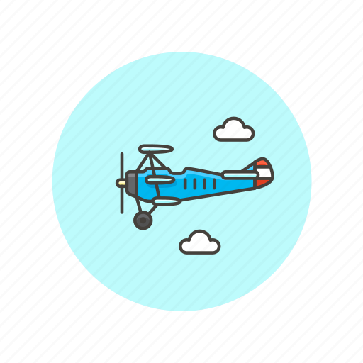 air, fly, plane, propeller, transportation, travel, vehicle icon