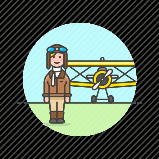 air, fly, pilot, plane, propeller, transportation, travel icon