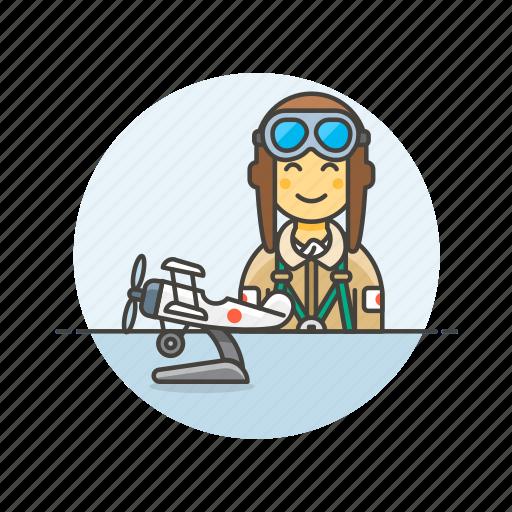 Air, pilot, plane, propeller, transportation, fly, travel icon - Download on Iconfinder