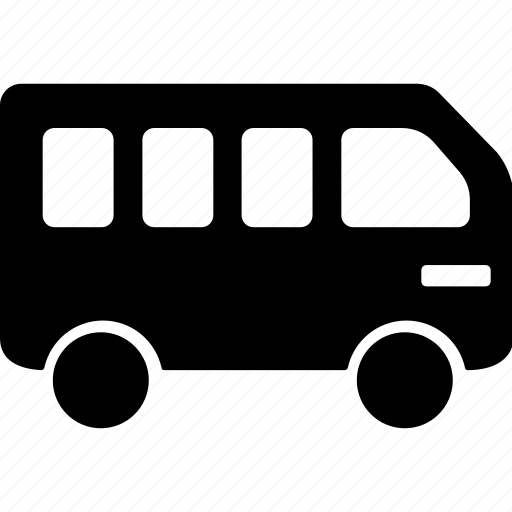 and, bus, car, service, transportation icon