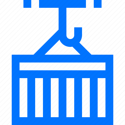 container, crane, lifting, logistic, move, products, transportation icon