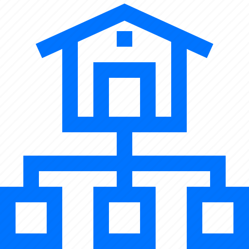 distribution, logistic, logistics, sitemap, stock, transportation, warehouse icon