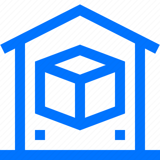 delivery, home, logistic, product, stock, transportation, warehouse icon