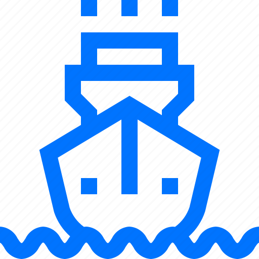 cargo, front, liner, logistic, ocean, shipping, transportation icon