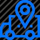 location, logistic, transportation, truck, van, vehicle icon