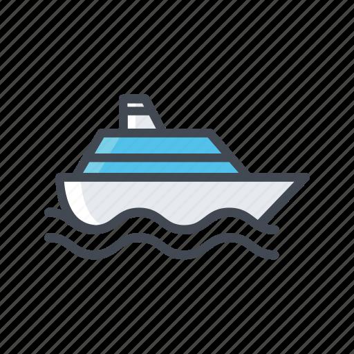 ferry, ship, transportation, vehicle icon