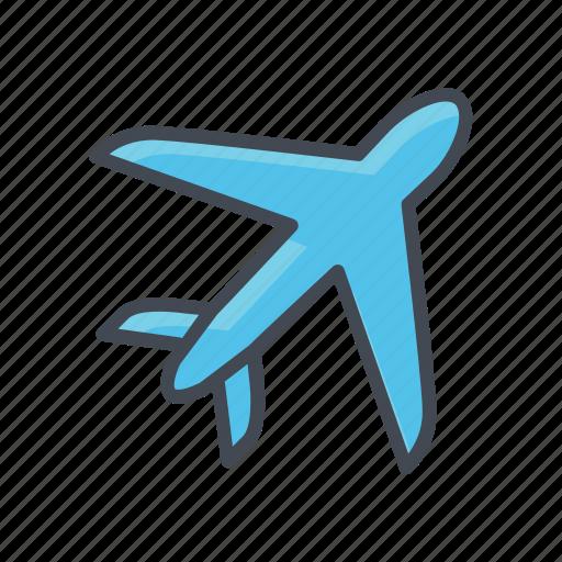 plane, transportation, vehicle icon