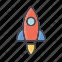rocket, transportation, vehicle icon