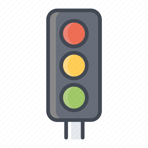traffic light, transportation, vehicle icon