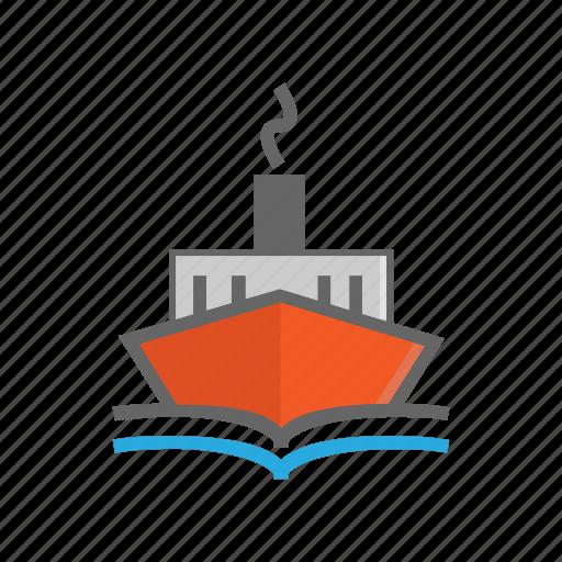 boat, cargo, ship, transport, transportation, travel, vacation icon
