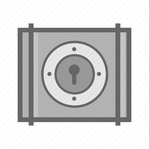 box, cargo, container, delivery, lock, password, protection icon