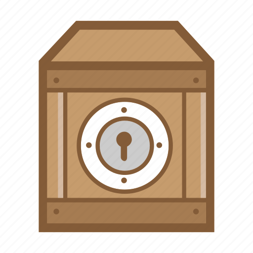 box, cargo, container, delivery, lock, package, security icon