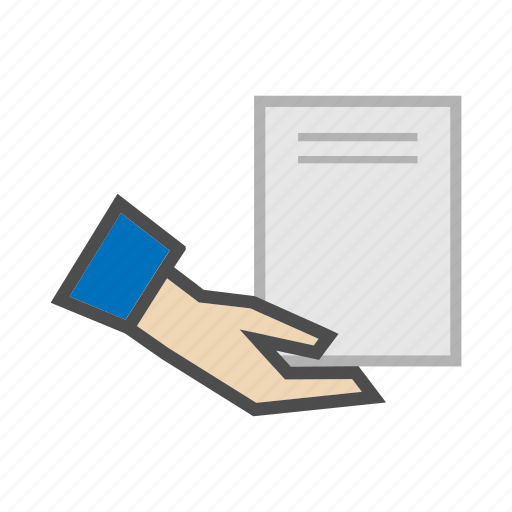 cargo, delivery, documents, format, hand, page, transportation icon