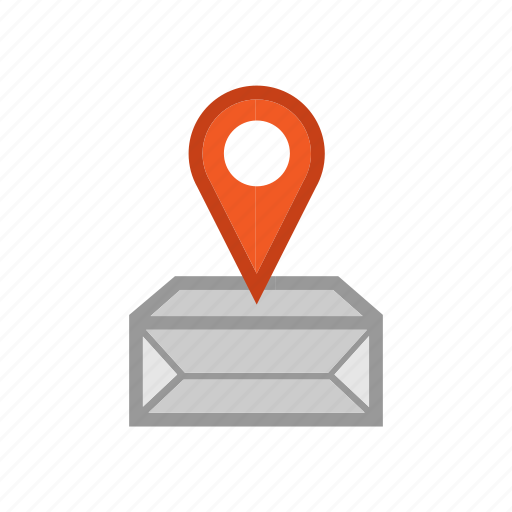 box, cargo, delivery, ecommerce, location, shipping, traking icon