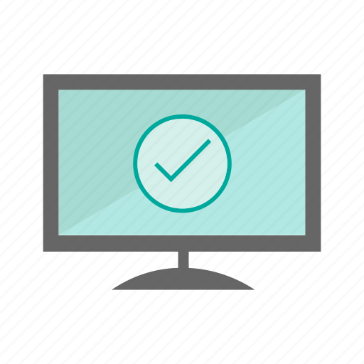chek, computer, desktop, monitor, network, screem, technology icon