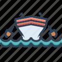 boat, cockboat, kayak, marine, pinnace, transport