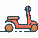 motorbike, motorcycle, ride, scooter, transport, vehicle, vespa icon