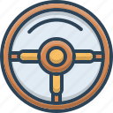 control, drive, steering, transport, travel, wheel icon