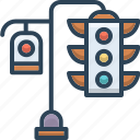 control, light, semaphore, signal, stoplight, traffic, traffic light icon