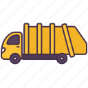 garbage, lorry, trailer, transport, truck, vehicle icon