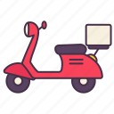 transport, motorcycle, delivery, vehicle, scooter, bike