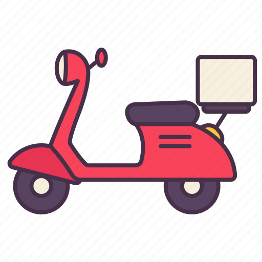 bike, delivery, motorcycle, scooter, transport, vehicle icon